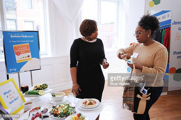 Melisa Douglas speaks with a guest at the Jenny Craig private event on January 23 2013 in New York City