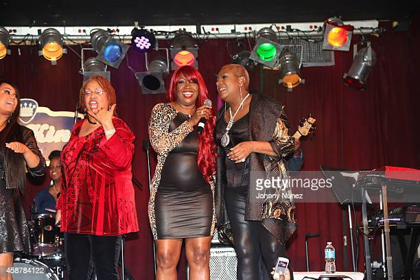 Meli'sa Morgan and Alyson Williams perform at BB King Blues Club Grill on November 10 2014 in New York City