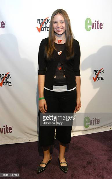 Melise Jow during Los Angeles Launch Party Hosted by Ryan Seacrest for The New Evite and Silent Auction to Benefit Rock The Vote at Smashbox Studios...
