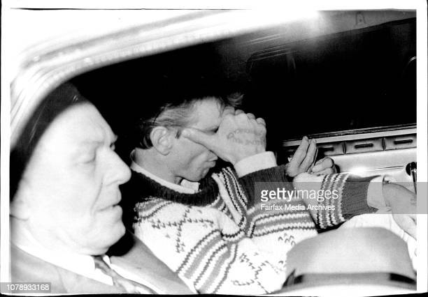 Melish being driven away by police after the surrender With Melish is Commissioner Allah Rev Paton Mrs Melish and Det Supt Ferguson July 10 1968