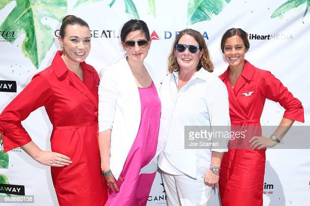 Melissa Abbott and Allison Smith attend the KALEIDOSCOPE LAWN TALKS presented by Delta Air Lines Cannabinoid Water on April 13 2017 in La Quinta...