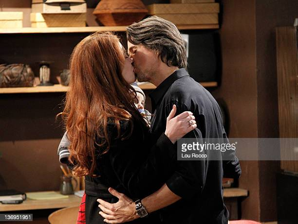 LIVE Melissa Archer and Michael Easton in a scene that airs the week of January 9 2012 on ABC Daytime's 'One Life to Live' 'One Life to Live' airs...