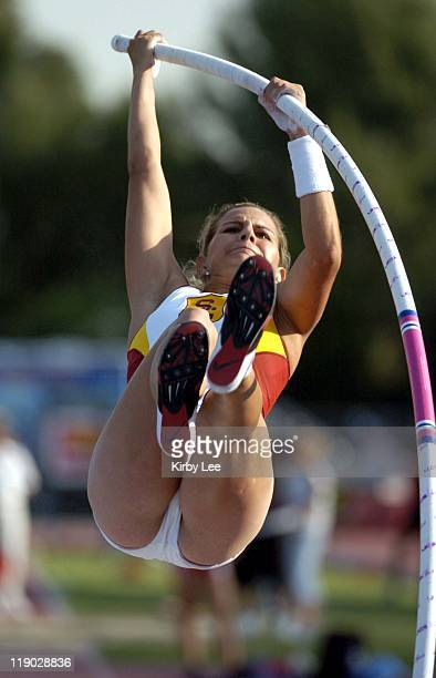 Melissa Astete of USC placed fourth in the women's University/Open pole vault at 125 1/2 in the 47th Mt San Antonio College Relays in Walnut Calif on...