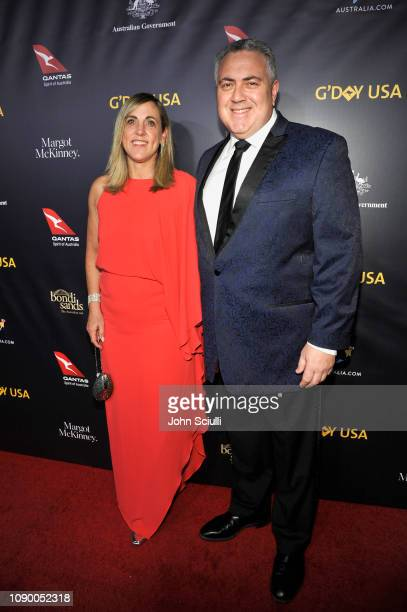 Melissa Babbage and Hon. Joe Hockey attend the 2019 G'Day USA Gala at 3LABS on January 26, 2019 in Culver City, California.