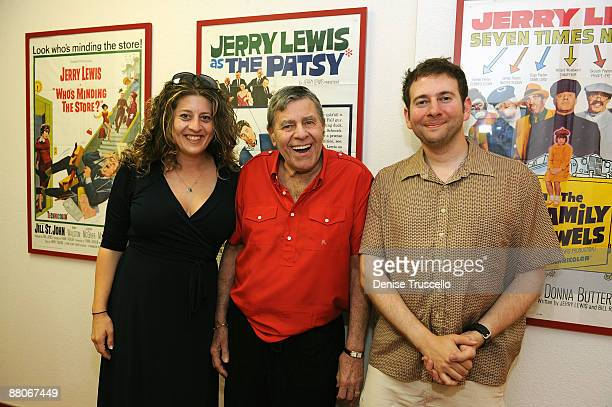 Melissa Balin Jerry Lewis and Brandon Balin during an interview for the Ina Balin documentary on May 29 2009 in Las Vegas Nevada