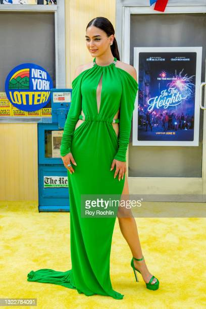 """Melissa Barrera attends """"In The Heights"""" 2021 Tribeca Festival opening night premiere at United Palace Theater on June 09, 2021 in New York City."""