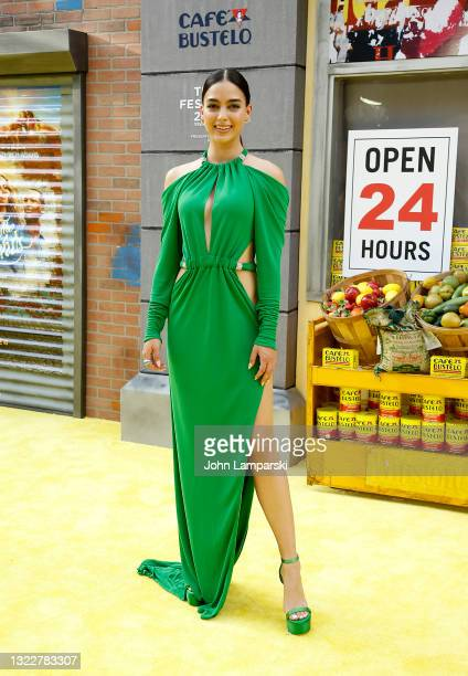 """Melissa Barrera attends """"In The Heights"""" opening night premiere - 2021 Tribeca Festival at United Palace Theater on June 09, 2021 in New York City."""