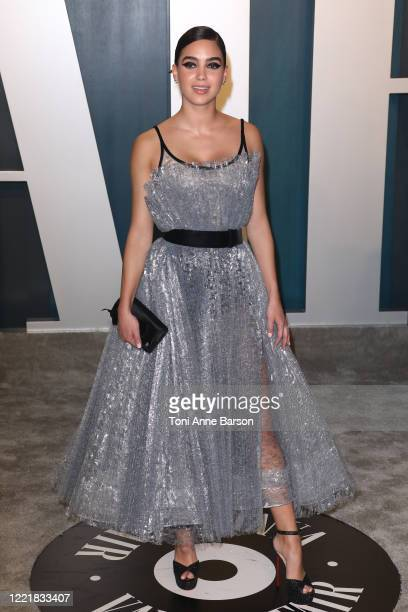 Melissa Barrera attends the 2020 Vanity Fair Oscar Party at Wallis Annenberg Center for the Performing Arts on February 09 2020 in Beverly Hills...