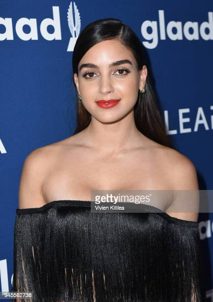Melissa Barrera attends the 29th Annual GLAAD Media Awards at The Beverly Hilton Hotel on April 12 2018 in Beverly Hills California