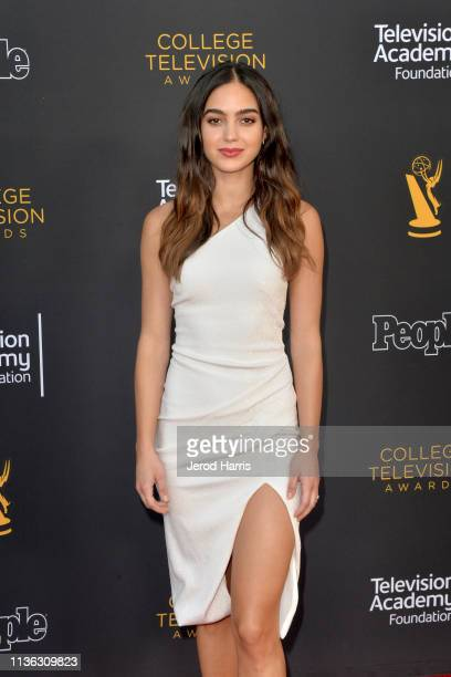 Melissa Barrera attends The Television Academy Foundation's 39th College Television Awards at Wolf Theatre on March 16 2019 in North Hollywood...