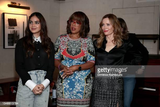 Melissa Barrera, Gayle King and Leslie Mann attend Through Her Lens: The Tribeca CHANEL Women's Filmmaker Program Cocktail Celebration at Soho House...