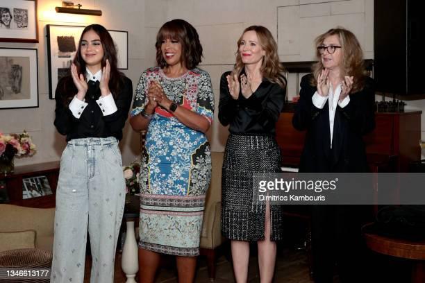 Melissa Barrera, Gayle King, Leslie Mann and Paula Weinstein attend Through Her Lens: The Tribeca CHANEL Women's Filmmaker Program Cocktail...