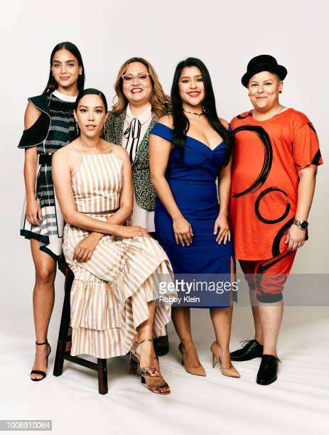 Melissa Barrera Mishel Prada Tanya Saracho Chelsea Rendon and Ser Anzoategui of STARZ's 'Vida' pose for a portrait during the 2018 Summer Television...