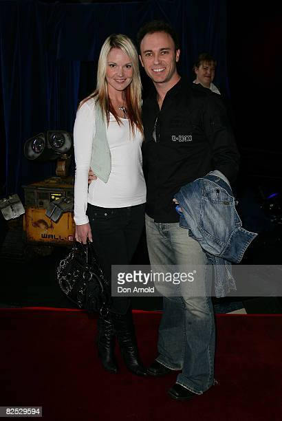 Melissa Bell and Nathan Foley attend the Australian premiere of WALL.E at the Hoyts Cinema in the Entertainment Quarter on August 24, 2008 in Sydney,...