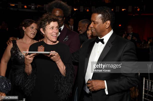 Melissa Bell Frances McDormand W Kamau Bell and Denzel Washington attend the 47th AFI Life Achievement Award honoring Denzel Washington at Dolby...