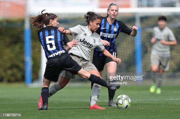 Melissa Bellucci of Juventus Women U19 in action during the Serie A Primavera Final Four match between Juventus U19 Women and FC Internazionale U19...