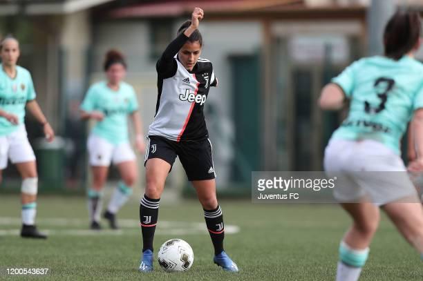 Melissa Bellucci of Juventus Women U19 in action during the Viareggio Women's Cup match between Juventus U19 and FC Internazionale U19 on February 13...