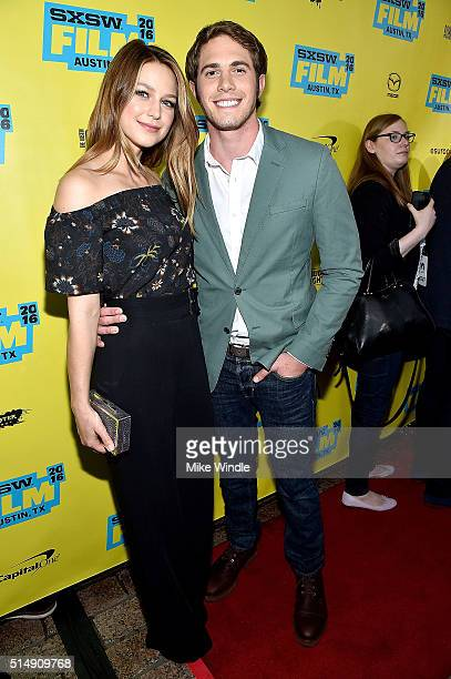 Melissa Benoist and actor Blake Jenner attend the screening of Everybody Wants Some during the 2016 SXSW Music Film Interactive Festival at Paramount...