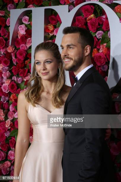 Melissa Benoist and Blake Jenner attend the 72nd Annual Tony Awards on June 10 2018 at Radio City Music Hall in New York City