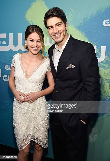 Melissa Benoist and Brandon Routh attend The CW Network's 2016 Upfront at The London Hotel on May 19 2016 in New York City