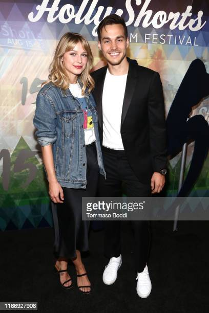 Melissa Benoist and Chris Wood attend the 15th Annual Oscar Qualifying HollyShorts Film Festival Opening Night Gala at TCL Chinese 6 Theatres on...