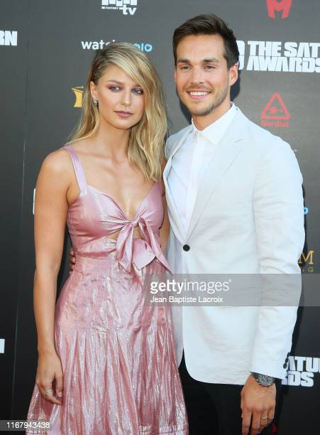 Melissa Benoist and Chris Wood attend the 45th Annual Saturn Awards at Avalon Theater on September 13 2019 in Los Angeles California