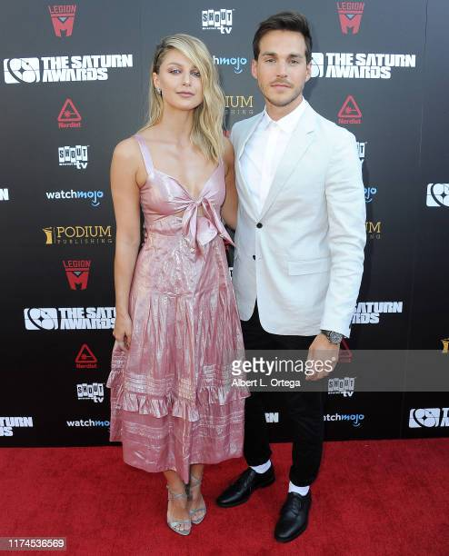 Melissa Benoist and Chris Wood attend the 45th Annual Saturn Awards at Avalon Theater on September 13, 2019 in Los Angeles, California.