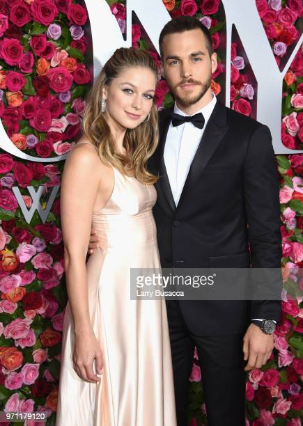 Melissa Benoist and Chris Wood attend the 72nd Annual Tony Awards at Radio City Music Hall on June 10 2018 in New York City