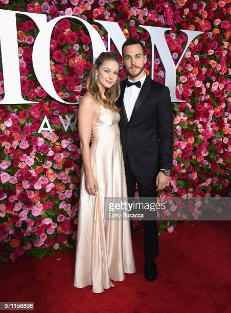 Melissa Benoist and Chris Wood attends the 72nd Annual Tony Awards at Radio City Music Hall on June 10 2018 in New York City