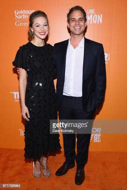 Melissa Benoist and Greg Berlanti attend The Trevor Project TrevorLIVE NYC at Cipriani Wall Street on June 11 2018 in New York City