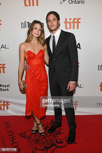 Melissa Benoist and husband actor Blake Jenner attend 'The Edge Of Seventeen' premiere during the 2016 Toronto International Film Festival at Roy...