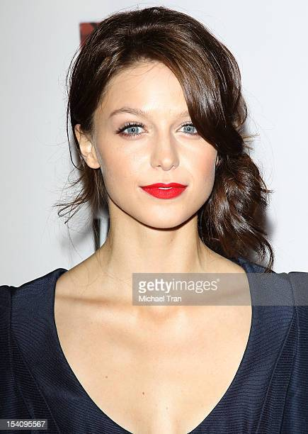 Melissa Benoist arrives at the Los Angeles premiere of 'American Horror Story Asylum' held at Paramount Studios on October 13 2012 in Hollywood...