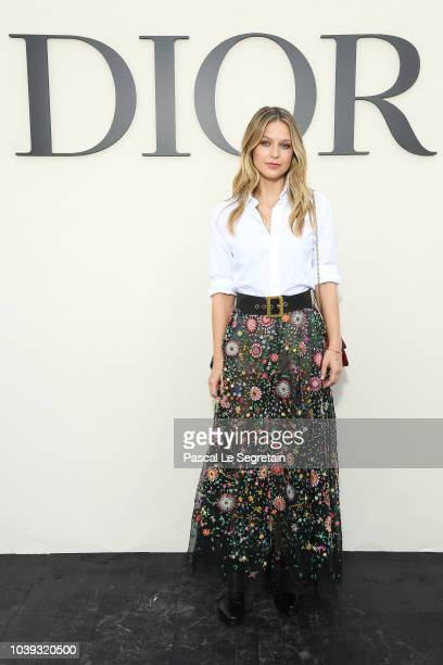 Melissa Benoist attends the Christian Dior show as part of the Paris Fashion Week Womenswear Spring/Summer 2019 on September 24 2018 in Paris France