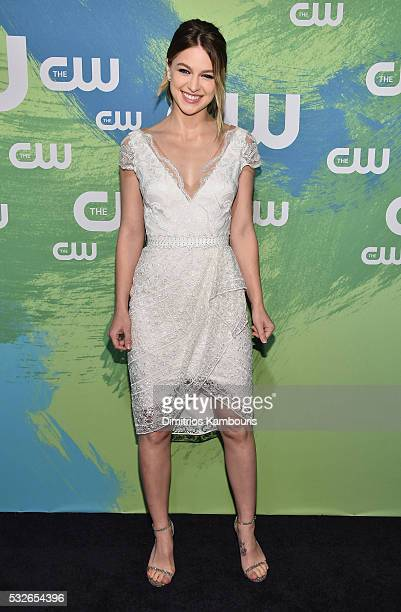 Melissa Benoist attends the CW Network's 2016 New York Upfront Presentation at The London Hotel on May 19 2016 in New York City