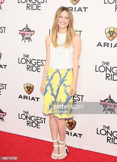 Melissa Benoist attends the premiere of Twentieth Century Fox's 'The Longest Ride' at the TCL Chinese Theatre IMAX on April 6 2015 in Hollywood...