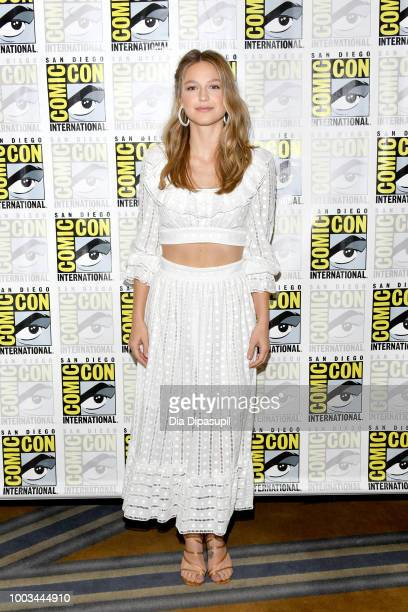 Melissa Benoist attends the 'Supergirl' Press Line during ComicCon International 2018 at Hilton Bayfront on July 21 2018 in San Diego California