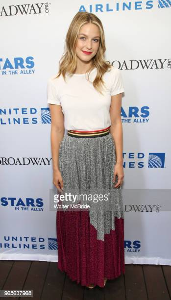 Melissa Benoist attends the United Airlines Presents #StarsInTheAlley Produced By The Broadway League on June 1 2018 in New York City