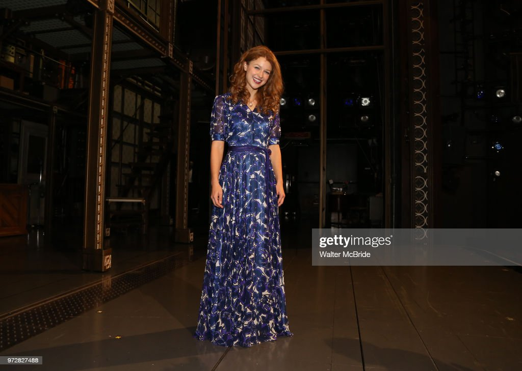 Melissa Benoist backstage after her opening night debut in 'Beautiful-The Carole King Musical' at the Stephen Sondheim on June 12, 2018 in New York City.
