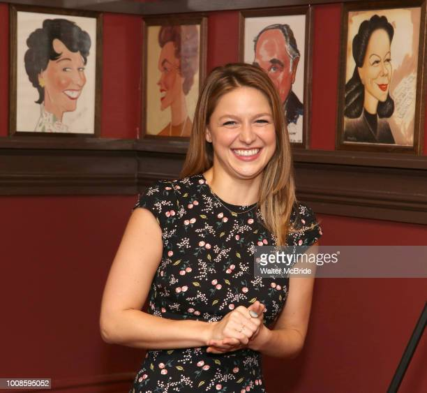 Melissa Benoist during her Sardi's portrait unveiling at Sardi's on July 31 2018 in New York City