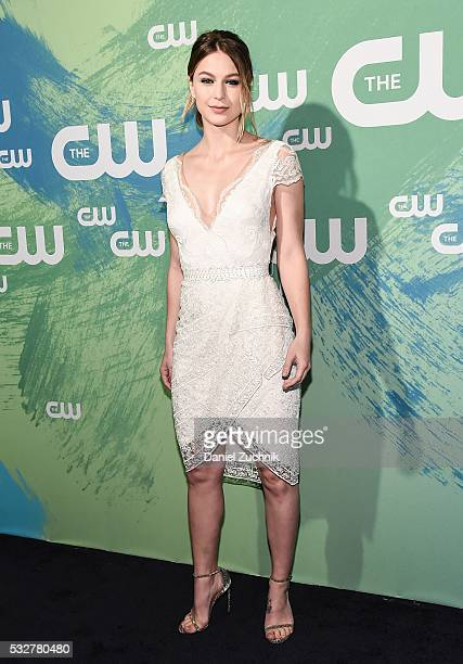 Melissa Benoist of the series 'Supergirl' attends The CW Network's 2016 New York Upfront at The London Hotel on May 19 2016 in New York City