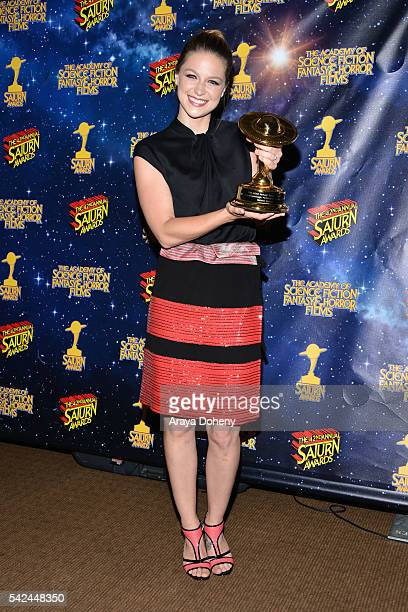Melissa Benoist poses in the pressroom at the 42nd Annual Saturn Awards at the Castaway on June 22 2016 in Burbank California