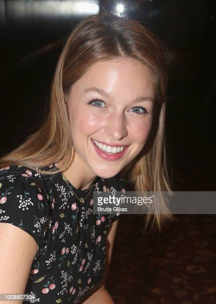Melissa Benoist receives her caricature on the wall honoring her performance in BeautifulThe Carole King Musical on Broadway at Sardis on July 31...