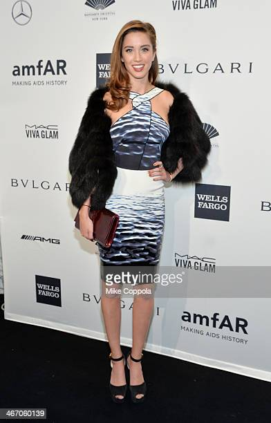 Melissa Bolona attends the 2014 amfAR New York Gala at Cipriani Wall Street on February 5, 2014 in New York City.