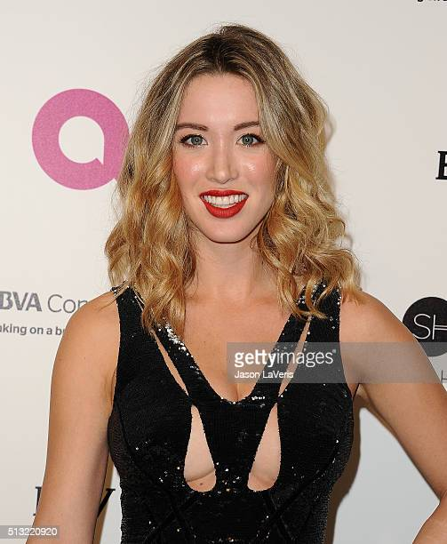 Melissa Bolona attends the 24th annual Elton John AIDS Foundation's Oscar viewing party on February 28, 2016 in West Hollywood, California.