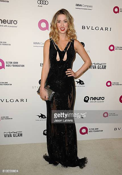 Melissa Bolona attends the 24th annual Elton John AIDS Foundation's Oscar viewing party on February 28 2016 in West Hollywood California