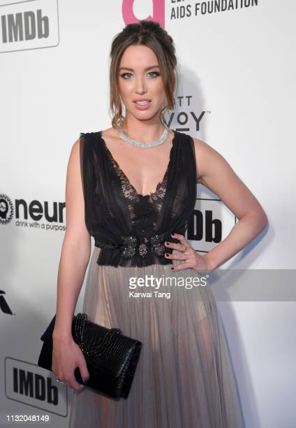 Melissa Bolona attends the 27th annual Elton John AIDS Foundation Academy Awards Viewing Party Celebrating EJAF And The 91st Academy Awards on...