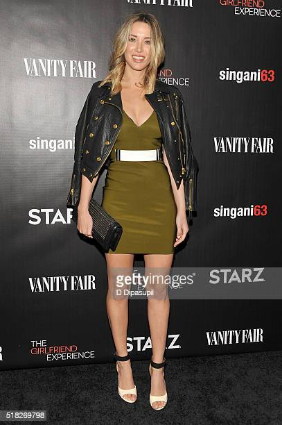 Melissa Bolona attends the New York premiere of The Girlfriend Experience at The Paris Theatre on March 30 2016 in New York City