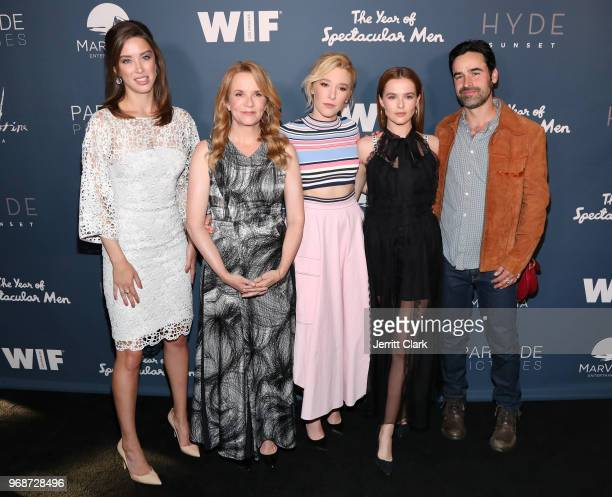 "Melissa Bolona, Lea Thompson, Madelyn Deutch, Zoey Deutch and Jesse Bradford attend the Premiere of MarVista Entertainment's ""The Year of Spectacular..."