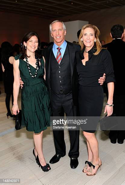 Melissa Bomes Steve Robinson and Janet Crown attend LACMA's 2012 Collector's Committee Gala Dinner at LACMA on April 21 2012 in Los Angeles California