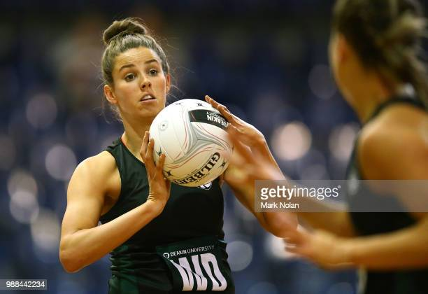 Melissa Bragg of the Magpies in action during the Australian Netball League grand final between the Tasmanian Magpies and the Canberra Giants at AIS...